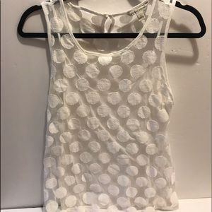 White lace tank top by Banana Republic